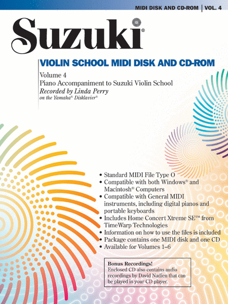 Suzuki Violin School, Volume 4 - MIDI Accompaniment Disk And CD-ROM
