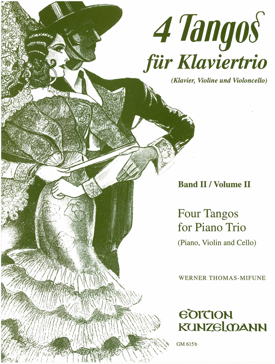 Four Tangos for Piano Trio - Volume II