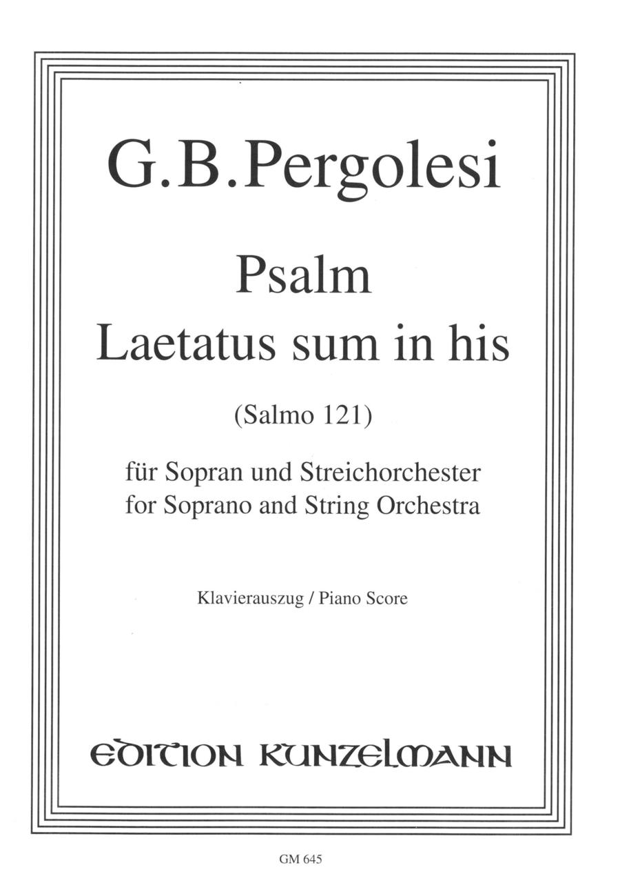 Psalm 121 (Laetatus sum)