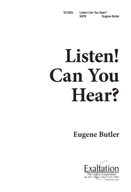 Listen, Can You Hear?