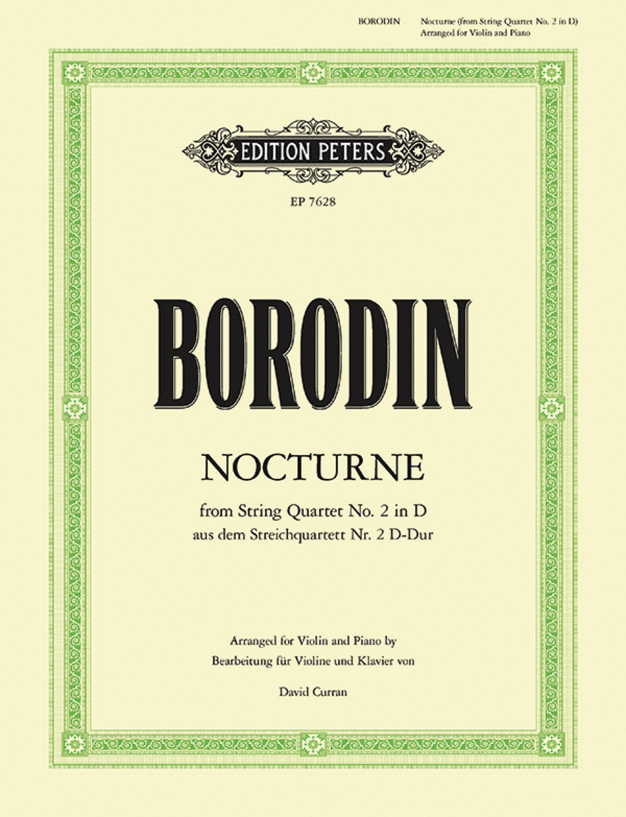 Nocturne from String Quartet No. 2 in D Major - Violin and Piano