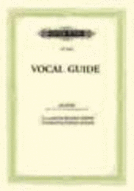 The Peters Edition Vocal Guide