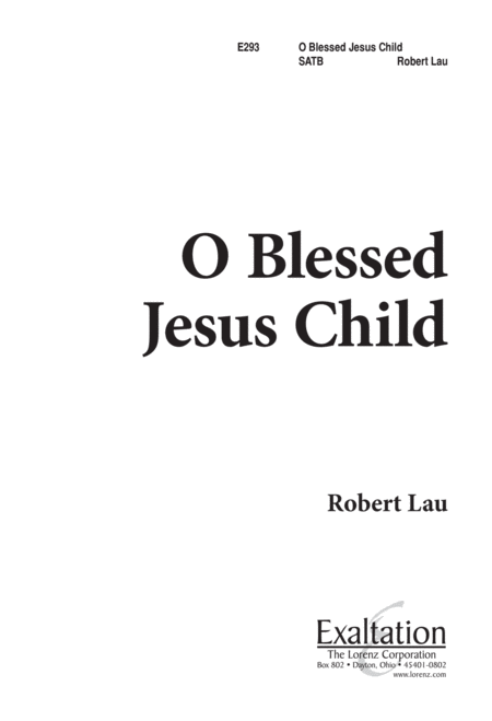 O Blessed Jesus Child