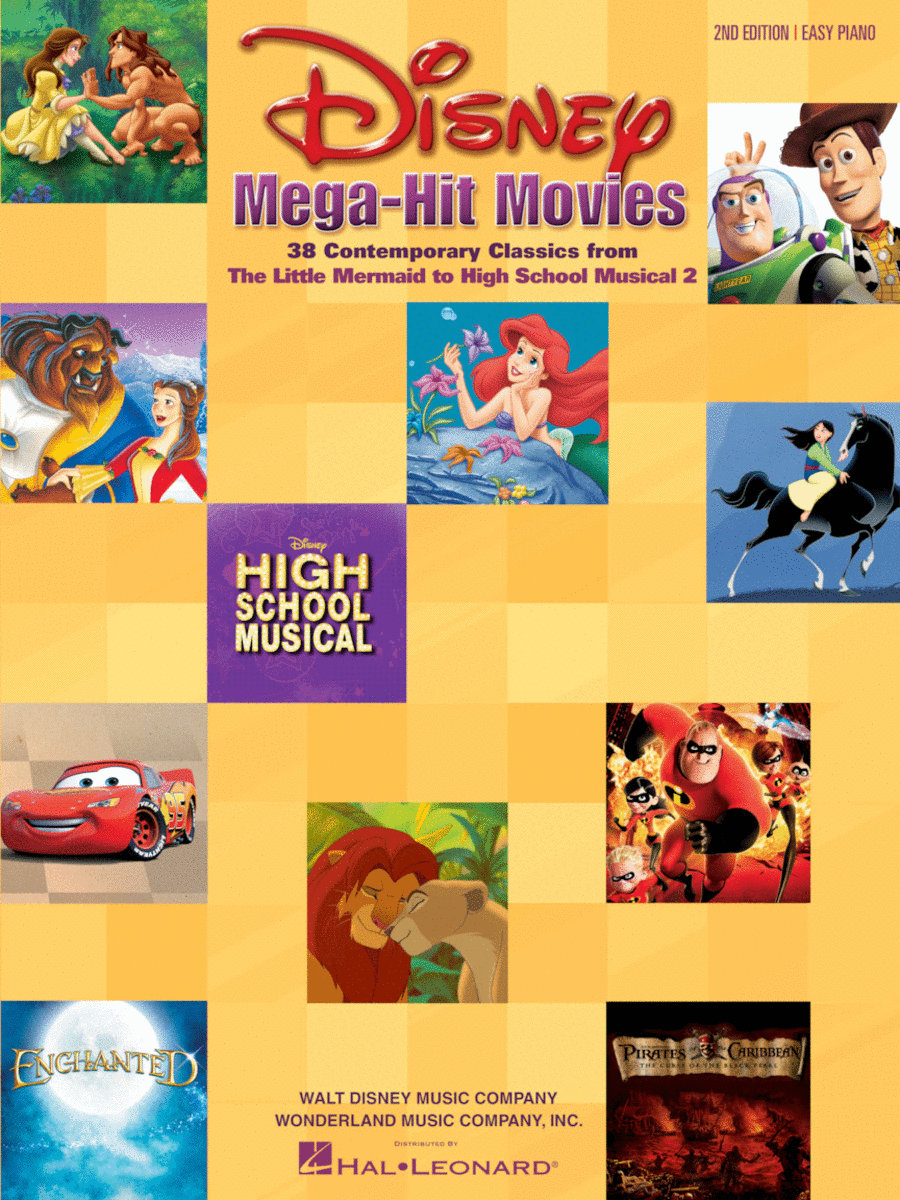 Disney Mega-Hit Movies - Easy Piano