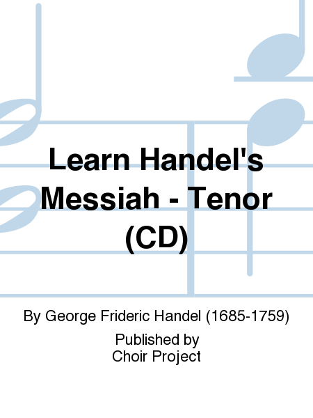 Learn Handel's Messiah - Tenor (CD)
