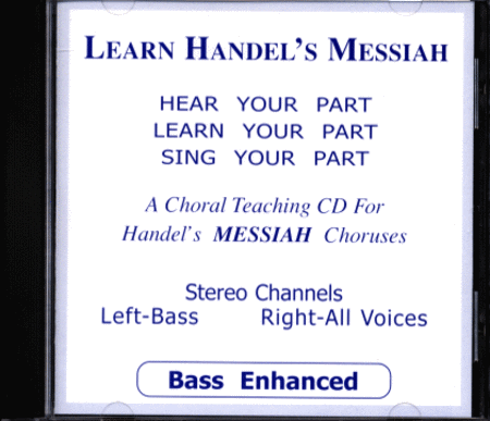 Learn Handel's Messiah - Bass (CD)
