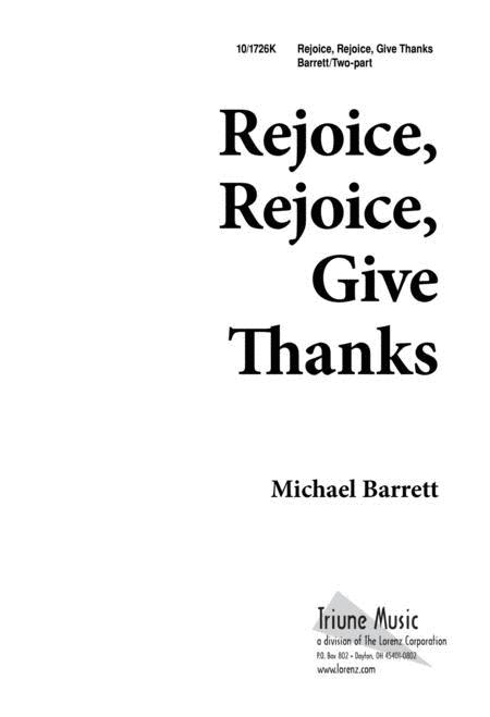 Rejoice, Rejoice, Give Thanks