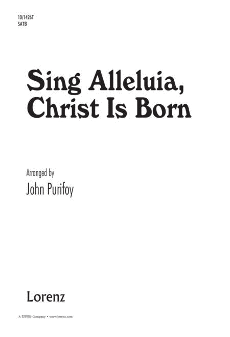 Sing Alleluia, Christ is Born