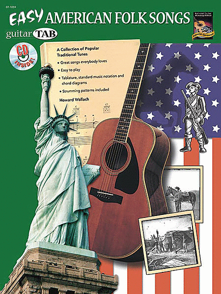 Guitar Tab: Easy American Folk Songs (Book & Cd)