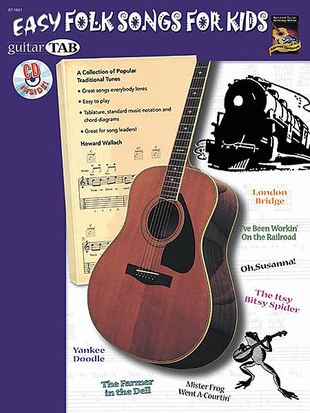 Guitar Tab: Easy Folk Songs For Kids (Book & Cd)