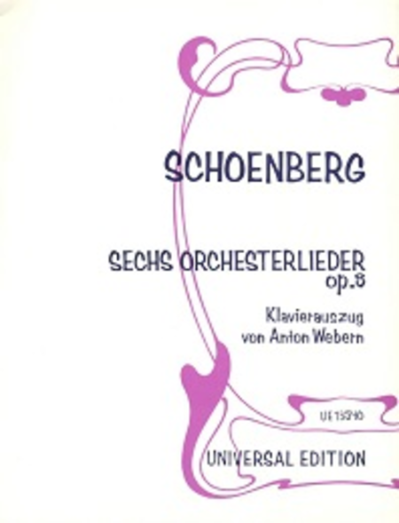 Six Orchestral Songs, Op. 8