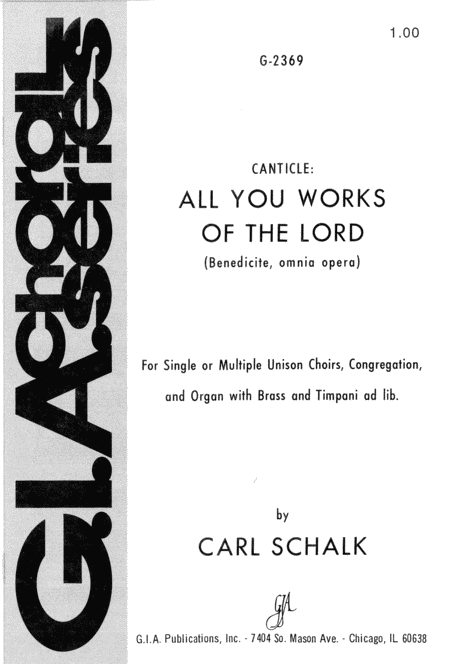 Canticle: All You Works of the Lord
