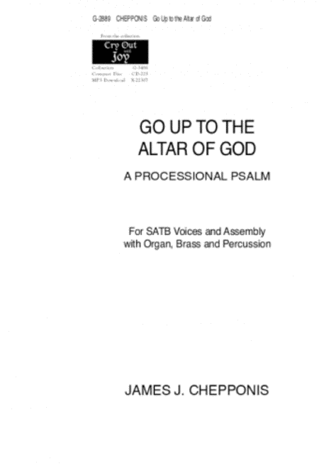 Go Up to the Altar of God
