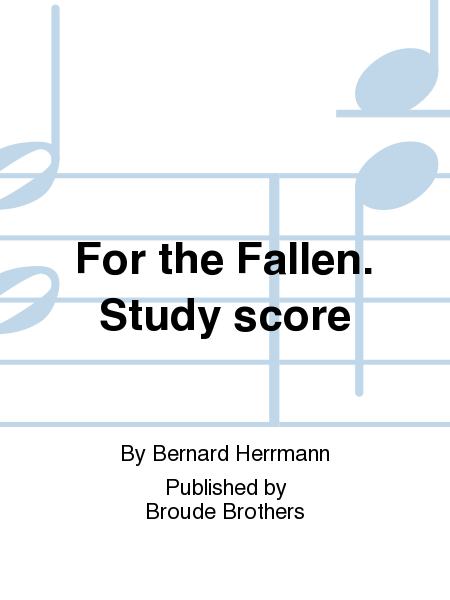 For the Fallen. Study score