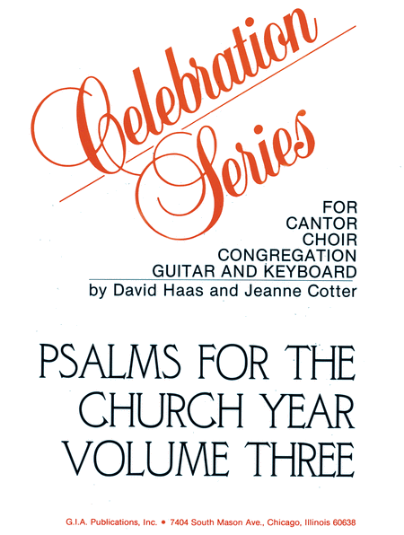 Psalms for the Church Year - Volume 3