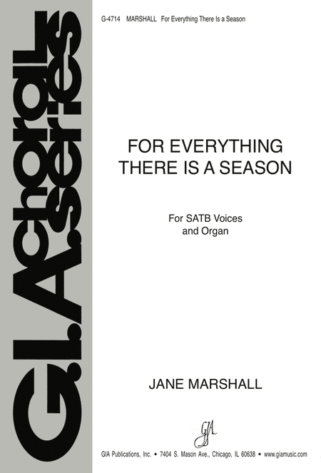 for everything there is a season sheet music by jane marshall sheet music plus. Black Bedroom Furniture Sets. Home Design Ideas