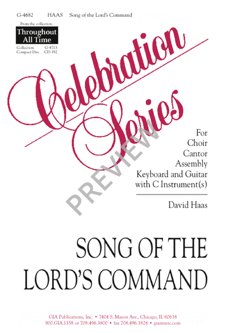 Song of the Lord's Command