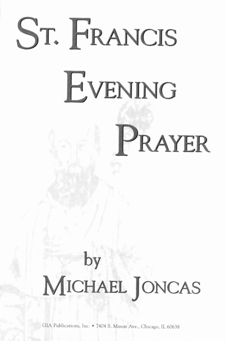 St. Francis Evening Prayer