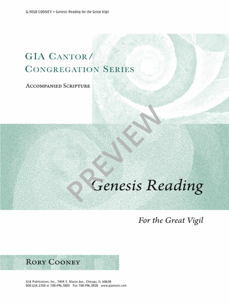 Genesis Reading for the Great Vigil