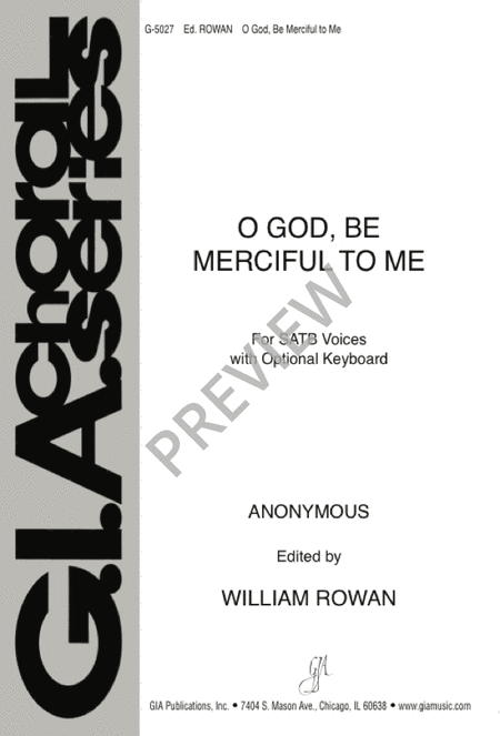O God, Be Merciful to Me