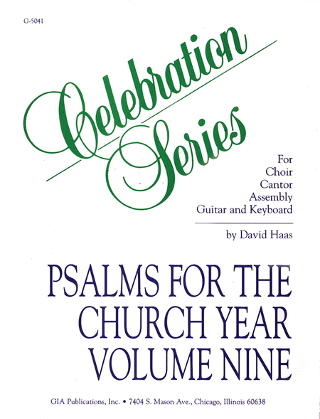 Psalms for the Church Year - Volume 9