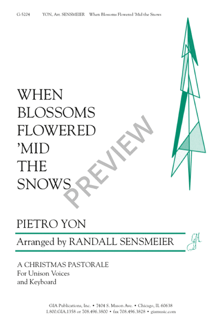 When Blossoms Flowered 'Mid the Snow