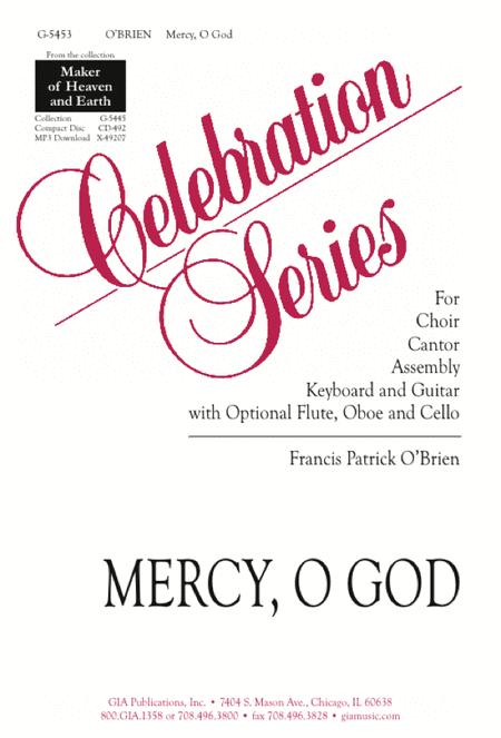 Mercy, O God