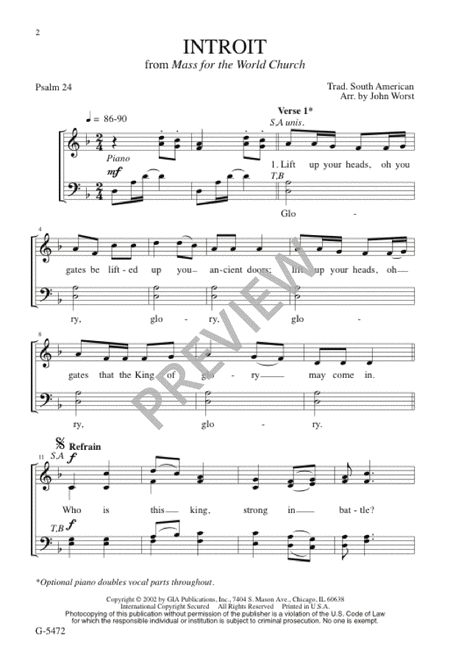 Introit from Mass for the World Church