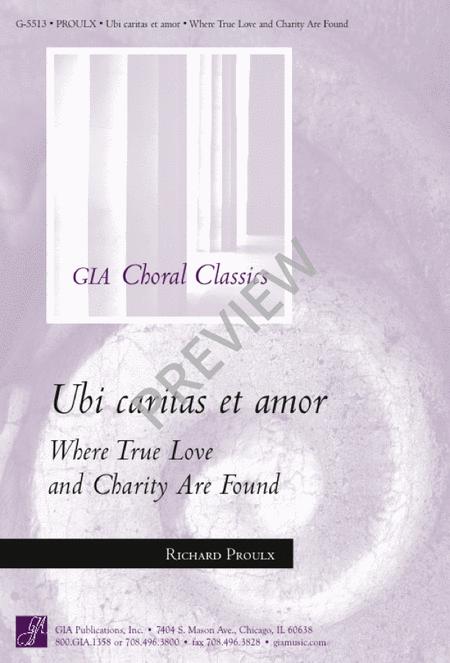 Ubi Caritas et Amor