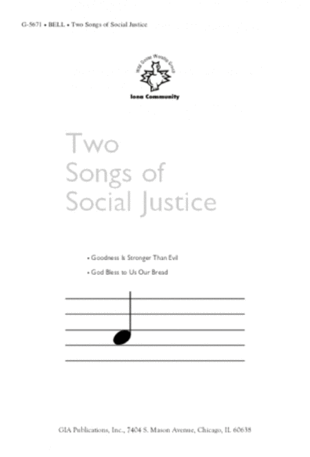 Two Songs of Social Justice