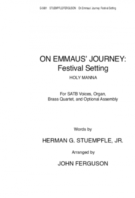 On Emmaus Journey: Festival Setting
