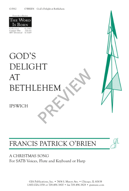 God's Delight at Bethlehem