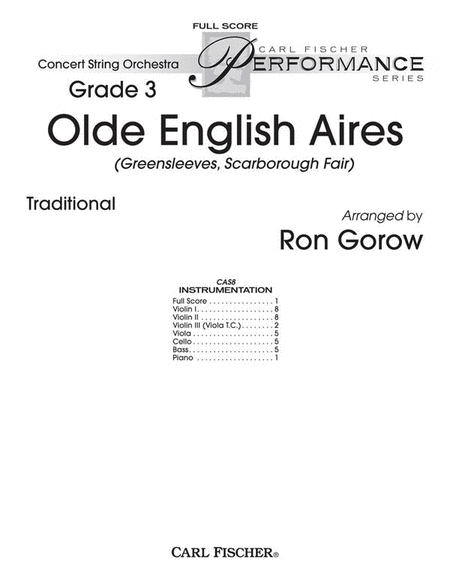 Olde English Aires