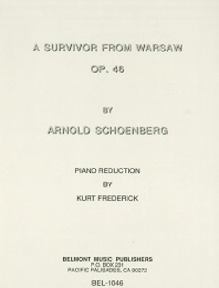 A Survivor from Warsaw, Op. 46