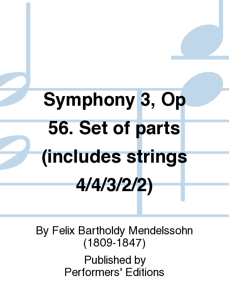 Symphony 3, Op 56. Set of parts (includes strings 4/4/3/2/2)