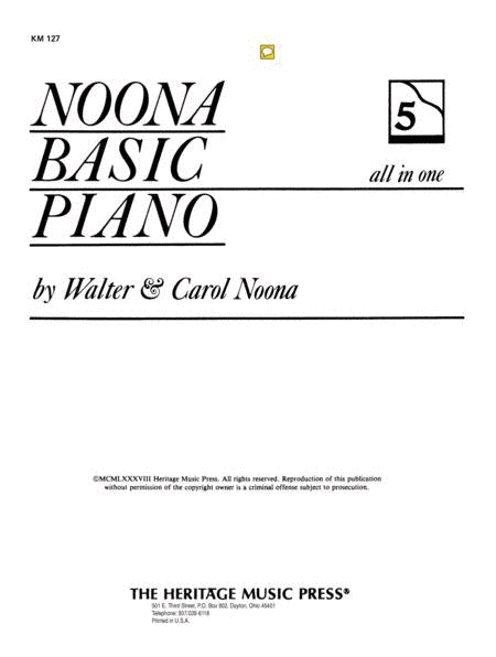 Noona Basic Piano Book 5