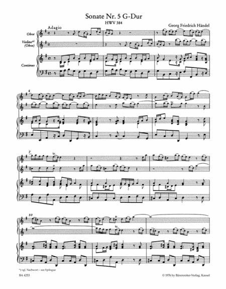Sonatas For Oboe, Violin (Oboe) And Basso Continuo, Volume 3 (#5 & 6)