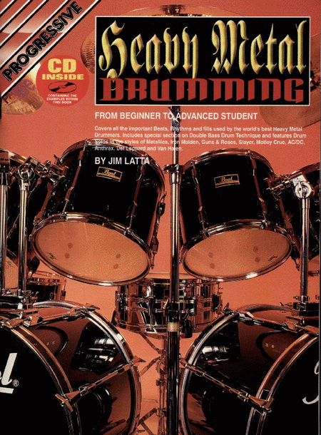 progressive heavy metal drumming book cd sheet music by jim latta sheet music plus. Black Bedroom Furniture Sets. Home Design Ideas