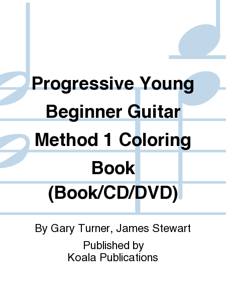 Progressive Young Beginner Guitar Method 1 Coloring Book (Book/CD/DVD)