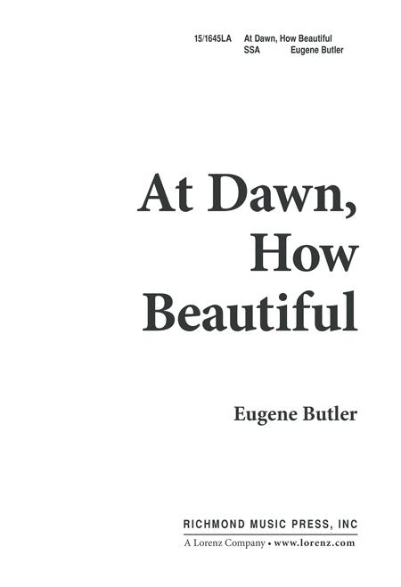 At Dawn, How Beautiful