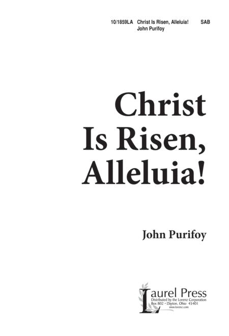 Christ Is Risen, Alleluia