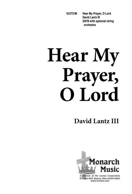Hear My Prayer, O Lord!