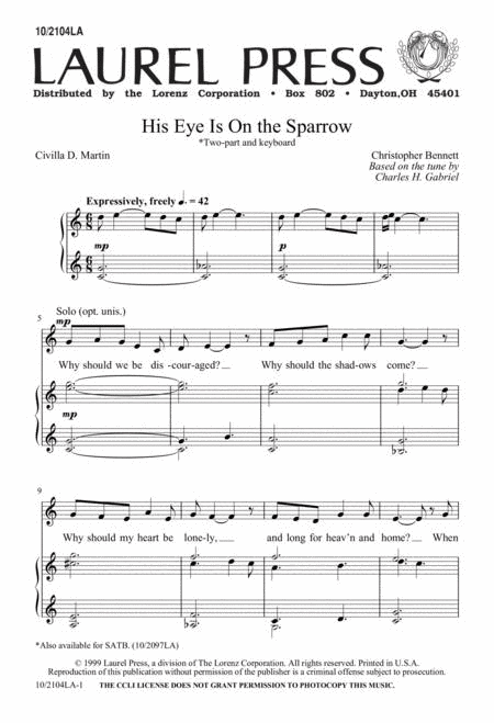 His Eye is on the Sparrow - 2-part