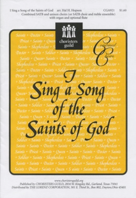 I Sing a Song of the Saints of God