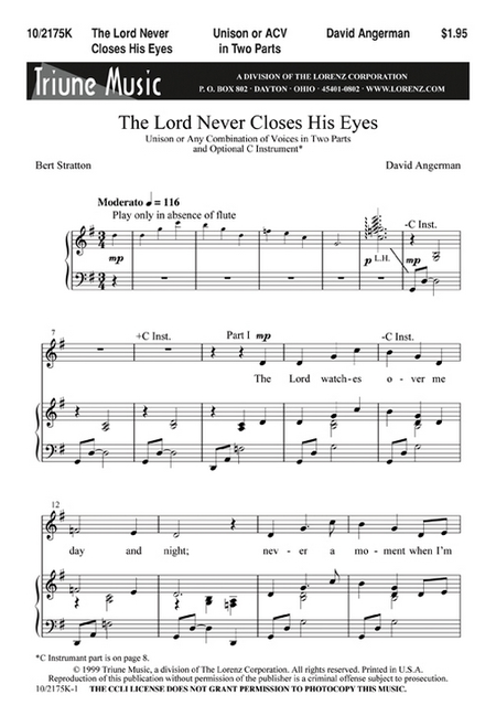 The Lord Never Closes His Eyes