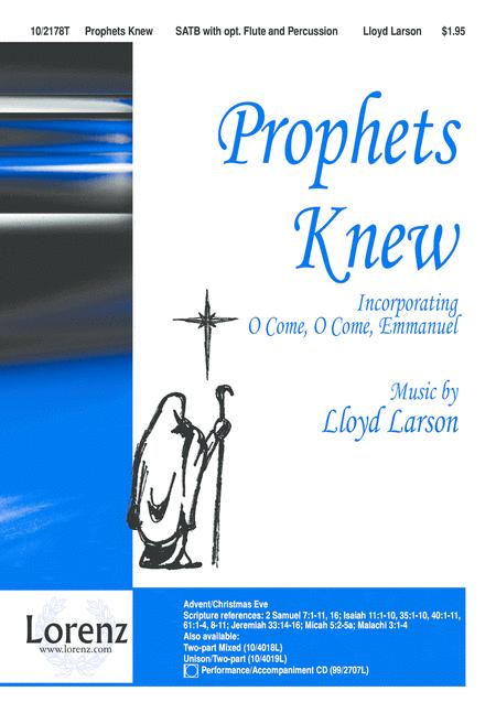 Prophets Knew