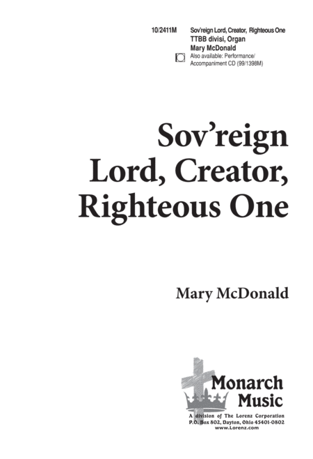 Sov'reign Lord, Creator, Righteous One