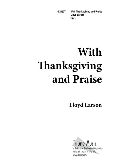 With Thanksgiving and Praise