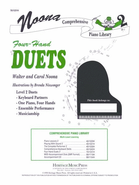 Noona Comprehensive Piano Four Hand Duet Level 2