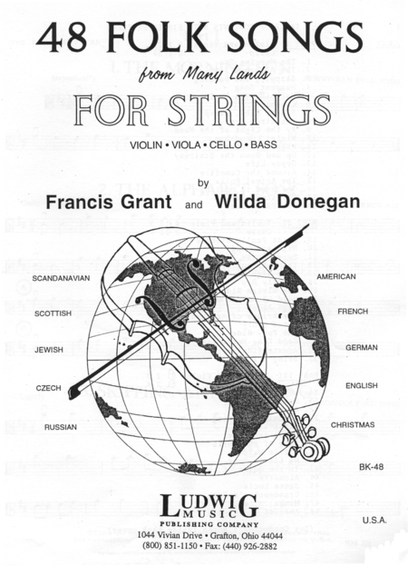 48 Folk Songs For Strings - Viola